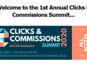 Duston Mc Groarty – Clicks & Commissions Summit 2020